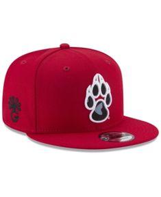 New Era New Mexico Lobos Flores 9FIFTY Snapback Cap - Red Black Adjustable  Sombreros Planos 89cadd2947d