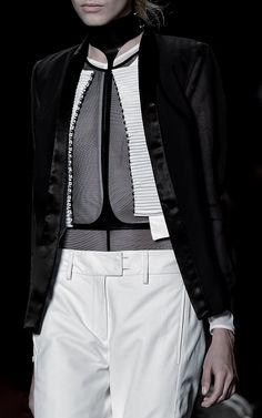 Sharp Tailoring - black & white fashion details // Ann Demeulemeester Spring 2016
