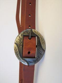 "9890 New Handmade GRUMPY OLD COWBOY ¾"" Heavy Harness Headstall GARY WIGGINS Buckle"