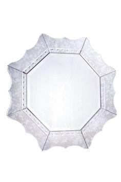 Modern Octagon Gray Mirror