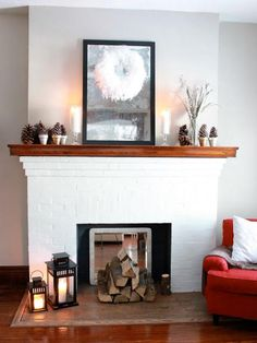 Red Decorate Fireplace httpqo homecomhow to decorate my