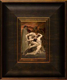 La Pastiche William-Adolphe Bouguereau 'Dante and Virgil' Pre-Framed Miniature Print on Canvas Wall Art Prints, Fine Art Prints, Poster Prints, Framed Prints, Canvas Prints, Canvas Frame, Canvas Art, William Adolphe Bouguereau, Paul Gauguin