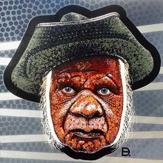Smoke & Mirrors (first study) by Adam (aka Blak Douglas) Hill at the Australian Aboriginal Art Directory Gallery. Adam Hills, Indian Blankets, Aboriginal Artists, Smoke And Mirrors, Australian Artists, Art Studies, Tribal Art, Study, Collaboration