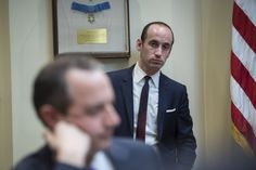 The 31-year-old top adviser to President Trump began building a conservative foundation as a teen in liberal Southern California. Miller is one of the leading advocates of the executive order banning travel from seven Muslim-majority nations, and he wrote some of Trump's most strident campaign speeches.