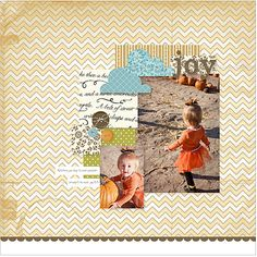 Stamping with Erica: Joy Digital Layout and Blog Candy!
