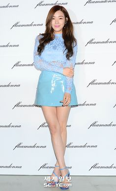 Tiffany may love pink , but blue is gorgeous on her!