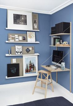 Repisa minimalista flotante moderna barata forma bast n for Decoracion dormitorios piso flotante