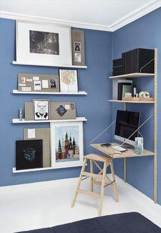 Post: Balance de azules en un piso en Copenhague --->> atico renovado con estilo nórdico, blog decoracion interiores, decoracion dormitorios, decoración en azul, decoración masculina, decoración piso danés, decoración pisos pequeños, estilo nórdico escandinavo