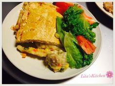 Steak and cheese meat pie for dinner #homemade #litaskitchen #yumyum #ifoatu
