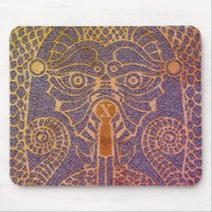 Customizable Abstract Dragon Mousepad blue gold Good Luck Chinese, Dragon's Teeth, Chinese Symbols, Dragon Head, Custom Mouse Pads, Corner Designs, Marketing Materials, Mousepad, Dog Design