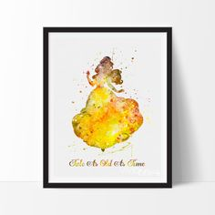 Disney Quote, Belle Beauty and the Beast Watercolor Art Print by VividEditions.com