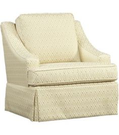 Chairs, Orleans Swivel Glider, Chairs | Havertys Furniture. Don't like the pattern but maybe the style.