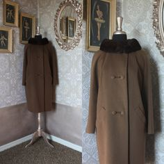 Vintage 1960's Lilli Ann Cocoa Brown Wool Coat by pursuingandie