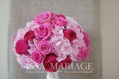 buchetel mireasa din hortensie roz