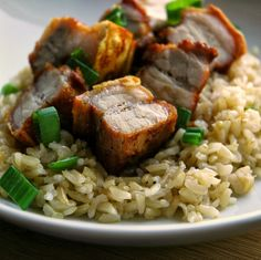 Crispy Pork Belly with Garlic Fried Rice