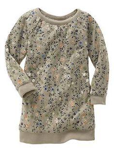 GAP: Quilted floral sweatshirt dress