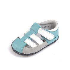 """Caroch   Tide   Baby Boy Sandals """"Tide"""" leather baby sandals are so cool and definitely not boring!"""