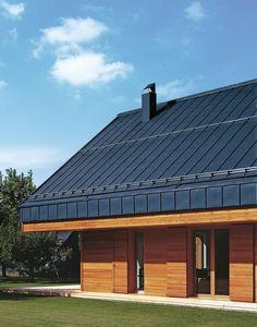 Dachsystem in der Oberflächenqualität COLOR blau