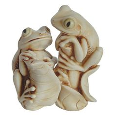 Harmony Kingdom BONNIE and CLYDE Frog Two-By-Two Figurines