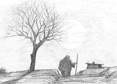 Karakalem Manzara Çalışmaları  