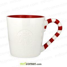SM053 12oz Starbucks Chriatmas Candy White Mug