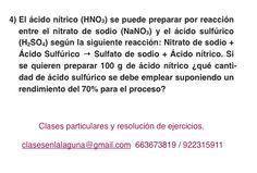 Ejercicio 4. Tema: Rendimiento (reacciones químicas)
