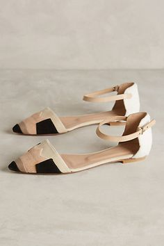 Hoss Intropia Color-Patched D'Orsay Flats #anthropologie