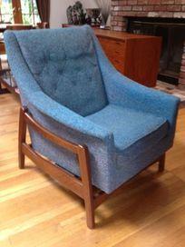 Vintage Danish Modern Mid Century Lounge Rocking Chair Wegner Eames - $350
