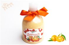 "Buttermilk Body Wash ""Tangerine"" (for bath & Shower, with Buttermilk & Grape Seed Oil)"