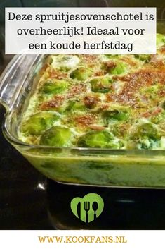 This brussel oven dish is delicious! Ideal for a cold autumn day - Everyone will love this brussel oven dish! Easy Healthy Recipes, Real Food Recipes, Chicken Recipes, Cooking Recipes, Good Food, Yummy Food, Oven Dishes, Food Test, Macaron