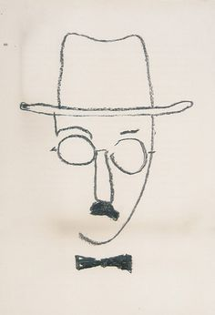 Fernando Pessoa - aldous and Abstract Face Art, Sketch A Day, Clothes Horse, Lisbon, Caricature, Painting & Drawing, Illustration, Modern Art, Archive
