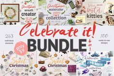 Celebrate it! Bundle by Gray Cat Graphics on