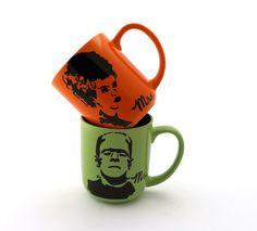 Mr and Mrs Frankenstein Monster and Bride of Frankenstein mugs set of two great wedding gift Mr and Mrs Frankenstein and Bride of…