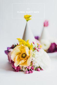 DIY floral party hat