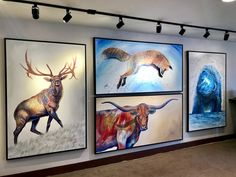 Check out my NEWEST Original Artwork available at Park City Fine Art (in Park City, Utah)! –– Which one is your favorite? Original Artwork, Original Paintings, Ap Studio Art, Art Folder, Colorful Animals, Ap Art, Mini Paintings, Wildlife Art, Park City