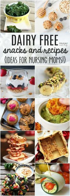 Dairy Free Recipes for a Dairy Free Diet. Tasty recipes and lactation suggestions that won't make you feel like you are sacrificing. Easy dairy free snack ideas for nursing and breastfeeding mothers. lactose free diet Dairy Free Recipes for a Dai Slow Food, Breastfeeding Snacks, Lactose Free Diet, Gluten Free, Dairy Free Diet Plan, Lactose Free Vegetarian Recipes, No Dairy Diet, Milk Dairy, Dairy Free Snacks