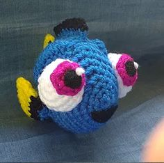 Stitch and Angel - Laetitia Etienne-Giroux - - Stitch et Angel Amigurumi Crochet Pattern: Baby Dory Chat Crochet, Crochet Fish, Crochet Amigurumi, Amigurumi Patterns, Baby Knitting Patterns, Diy Crochet, Crochet Crafts, Crochet Dolls, Yarn Crafts