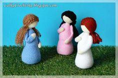 #FridayFrivolity - Lalka Crochetka: Pregnant doll ... Lalka w ciąży