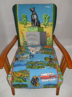 Dog on the Tuckerbox chair