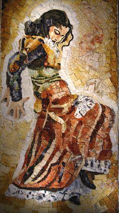 Mosaico in marmi policromi e pietre preziose con aggiunta di quarzi alabastri diaspri e onici interamente realizzato a mano con tessere ricavate singolarmente da blocchi e lastre