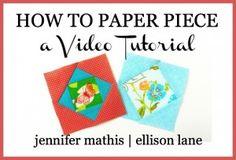 paper piecing video tutorial button