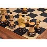 "New Arrival !!!!!!!!! 1970S' DUBROVNIK CHESS PIECES ONLY SET - HAND CARVED LACQUERED BOXWOOD-3.8"" KING"