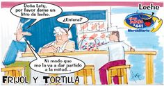 Frases, chistes, anécdotas, reflexiones y mucho más.: Chistes Frijol y Tortilla, Leche entera, Nuestro Diario Guatemala.