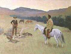 Frederic Remington - 137-0011472 The Conversation, or Dubious Company