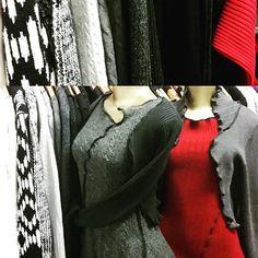 New cut of #reconstructed sweater #shrugs for #morninggloryboutique #mirandacaroligne #madelocal #sanfrancisco #sfmade #bayareafashion #reconstructingclothesfordummies