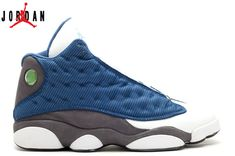 d2782423aa97 Men s Women s Air Jordan 13 (XIII) Retro Flint 2017 Basketball Shoes French  Blue University Blue-Flint Grey