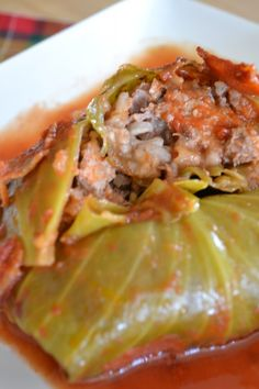 My Grandfather's Cabbage Rolls Cabbage Roll Cut in Half Veal Recipes, Cooking Recipes, Healthy Recipes, Slovak Recipes, Czech Recipes, Russian Recipes, Healthy Food, Cabbage Rolls Recipe, Cabbage Recipes