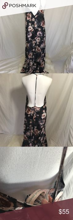 Flower Print Long Dress Back less, slip style dress with slits on the both side. Amazing print, similar style to reformation, tularosa, stone cold fox, faithful the brand, Free people. Dress is light and flowy. Band of Gypsies Dresses Maxi