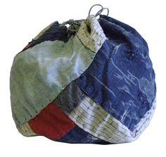Sri   A Beautifully Pieced Komebukuro: Round Shaped Rice Bag