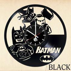 Batman LEGO Handmade Vinyl Record Wall Clock Fan gift - VINYL CLOCKS